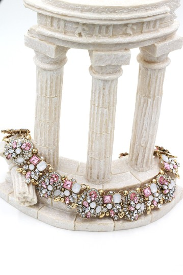 Ocean Fashion Fashion beautiful pink crystal necklace Image 2