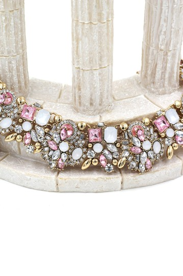 Ocean Fashion Fashion beautiful pink crystal necklace Image 3