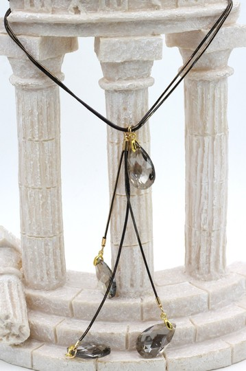 Ocean Fashion fashion pendant gray water drop crystal necklace Image 5