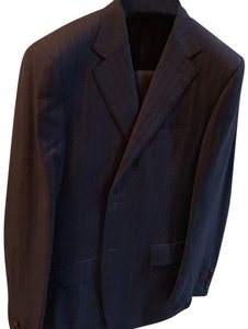 Canali navy blue stripped suit pants