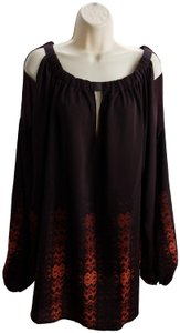 Lane Bryant Formal Plus Size Designer Top Wine