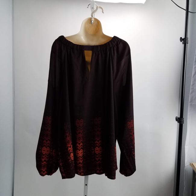 Lane Bryant Formal Plus Size Designer Top Wine Image 2
