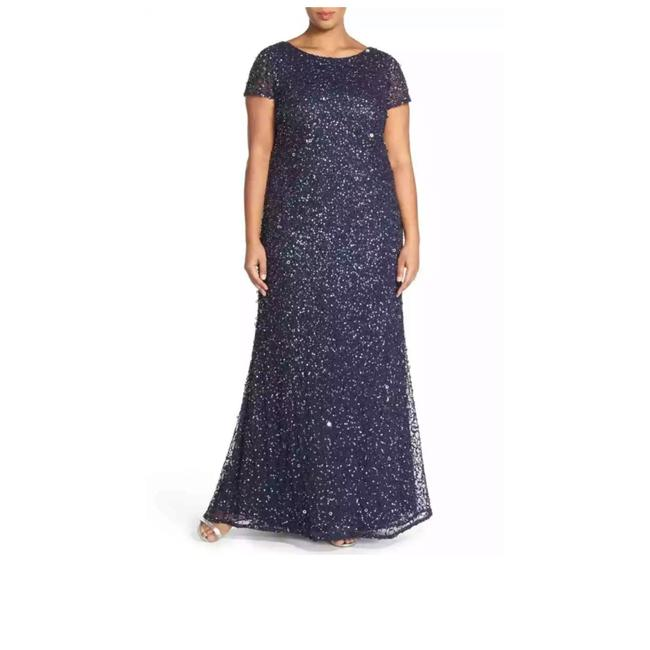 Preload https://img-static.tradesy.com/item/24927006/adrianna-papell-short-sleeves-scoop-back-beaded-gown-long-formal-dress-size-14-l-0-0-650-650.jpg