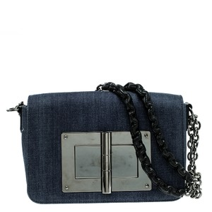Tom Ford Denim Suede Cross Body Bag