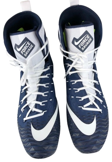 Item - Blue & White Savage Cleats Sneakers Size US 15 Regular (M, B)