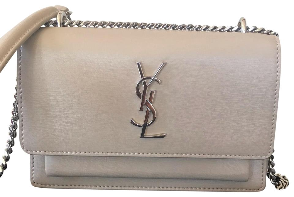 475fd9d130 Saint Laurent Chain Wallet Sunset Monogram Small Calf Beige Calfskin Leather  Cross Body Bag