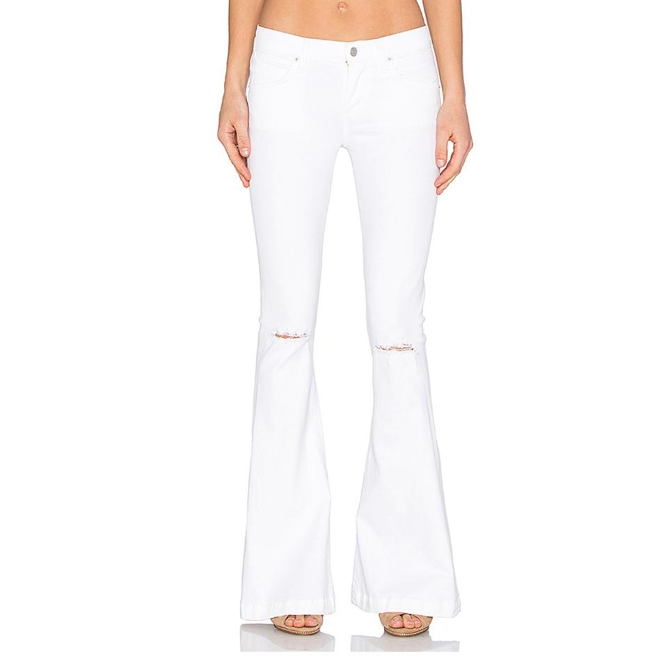 ee95b2c5d72c00 AGOLDE Glaze (White) Distressed Madison Ultra 70s Flare Leg Jeans ...