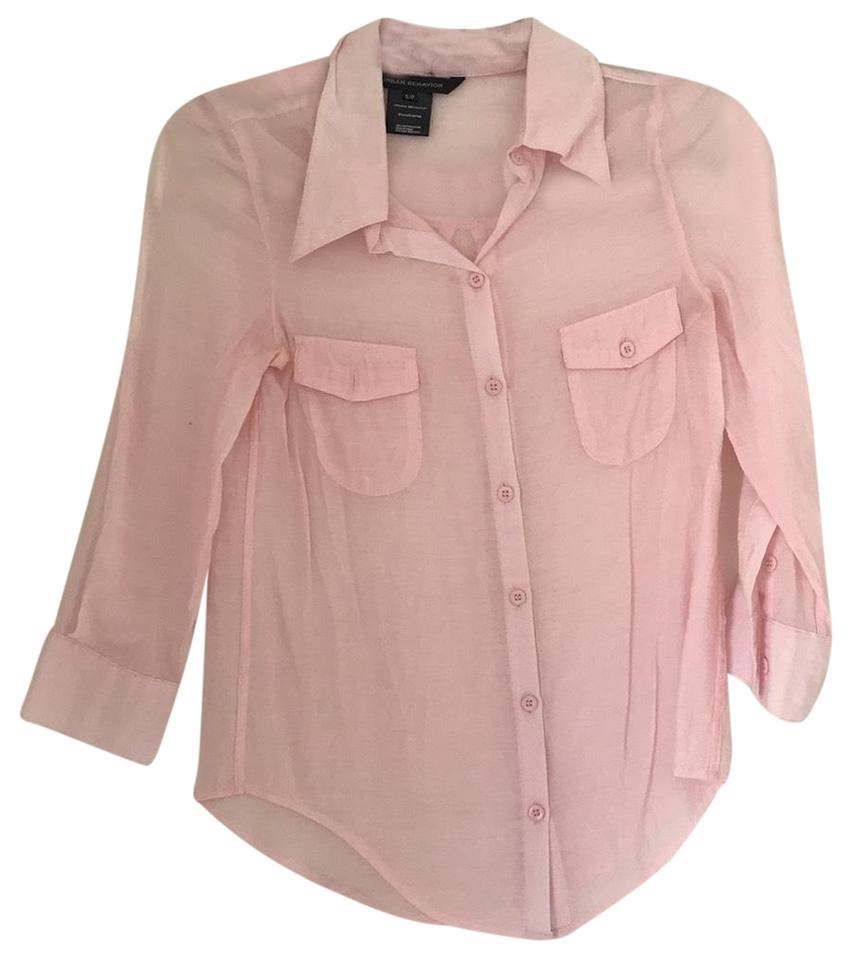 0b4fa1b3a439 Urban Behavior Light Pink Ltd1097ub Button-down Top Size 0 (XS ...