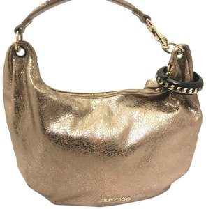 Jimmy Choo Hardware Leather Pebbled Logo Hobo Bag 847943fef3c08