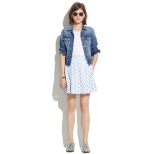 Madewell Skirt blue and white