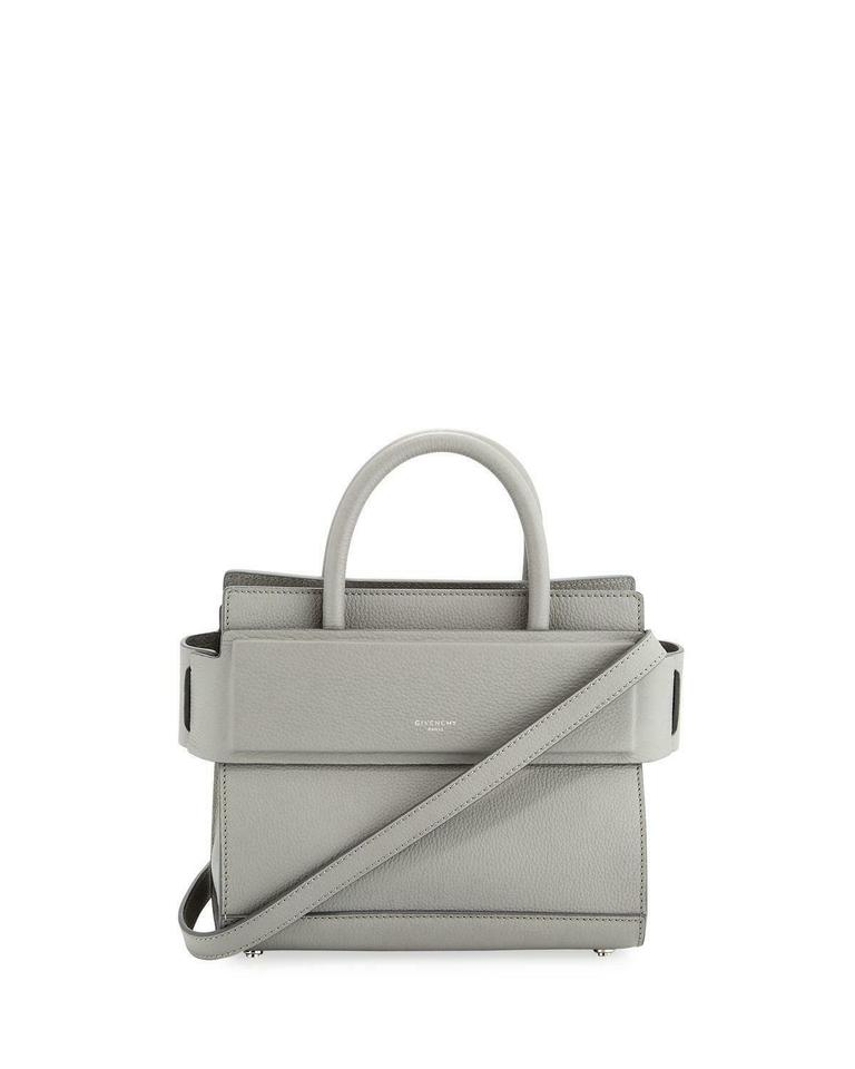 8406c92fc945 Givenchy Mini Horizon Grained Calfskin Pearl Gray Leather Tote - Tradesy