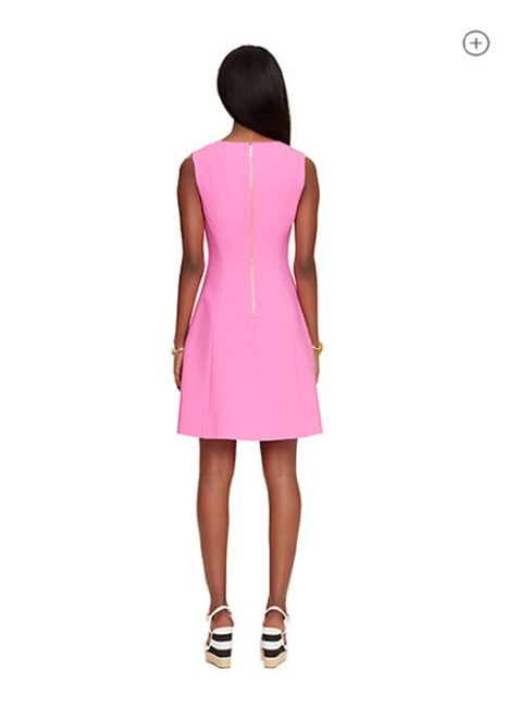Item - Pink Crepe A-line Mid-length Work/Office Dress Size 6 (S)