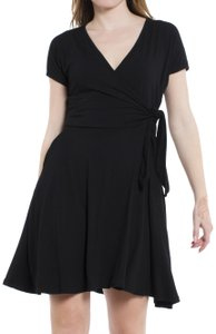 Daisy Del Sol short dress Black Wrap Surplice V Neck Little on Tradesy