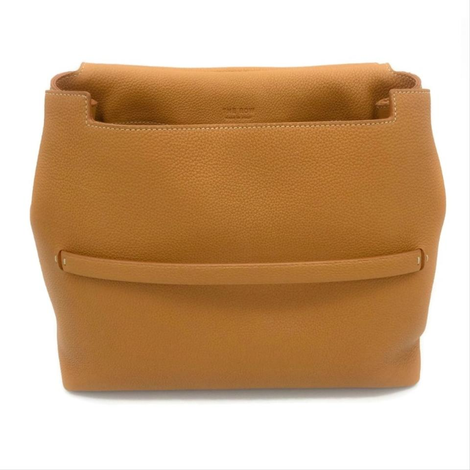 d92626862880 The Row Sideby Camel Pebbled Leather Shoulder Bag - Tradesy
