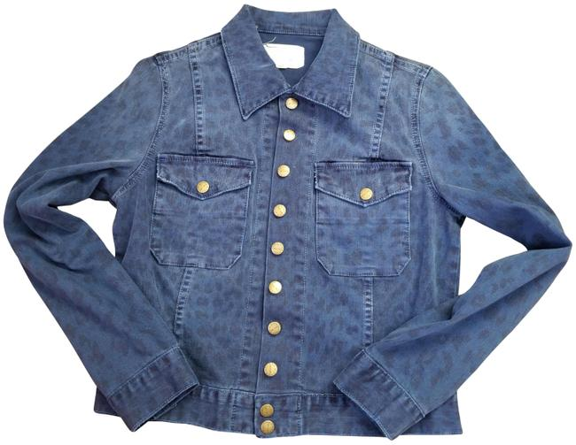 Item - Blue Leopard  Snap Jacket Size 8 (M)