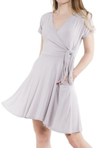 Daisy Del Sol short dress Light Grey Surplice V Neck Jersey Knit on Tradesy