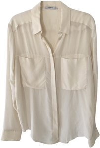 T by Alexander Wang Button Down Shirt Cream