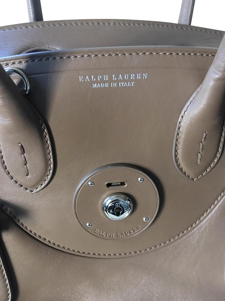 21468fc4bf Ralph Lauren Black Label Nappa Soft Ricky 33 Truffle Leather Shoulder Bag  47% off retail