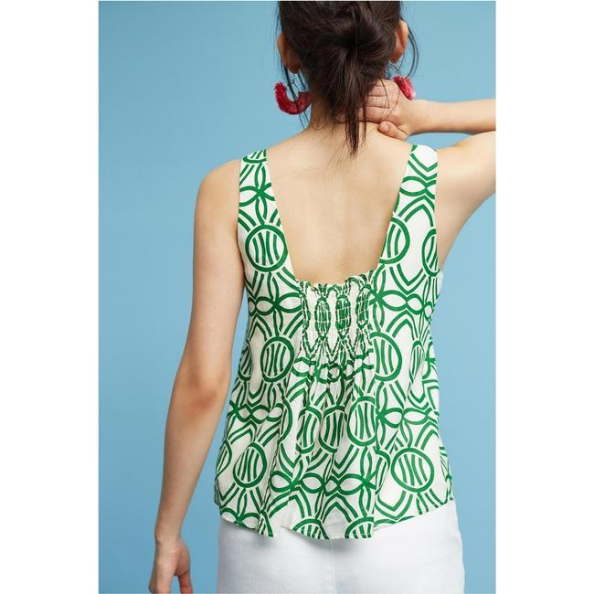 Anthropologie Top Green Image 2