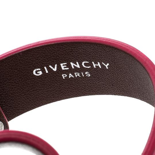 Givenchy Pink Leather Two Row Shark Bracelet M Image 5