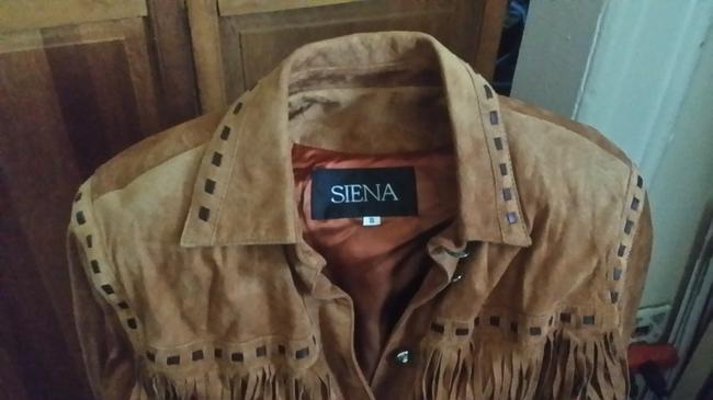 Siena Studio Tan Leather Jacket Image 1