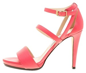 Jimmy Choo Leather Ankle Strap Pink Sandals