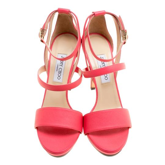 Jimmy Choo Leather Ankle Strap Pink Sandals Image 1
