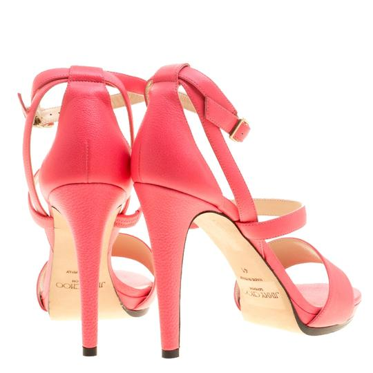 Jimmy Choo Leather Ankle Strap Pink Sandals Image 2