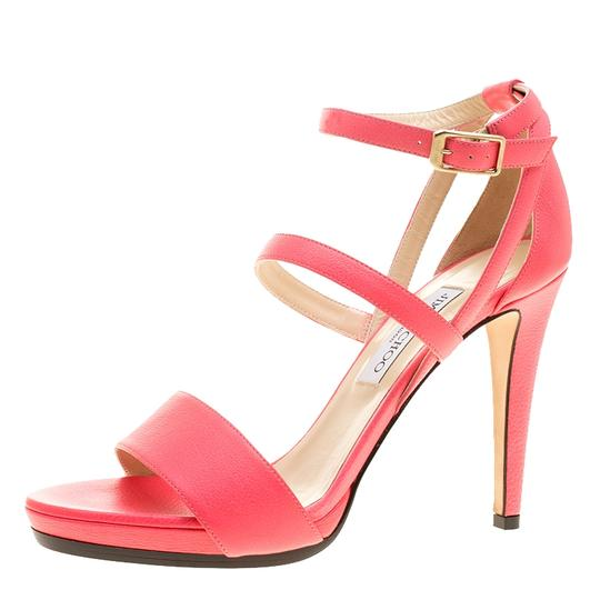 Jimmy Choo Leather Ankle Strap Pink Sandals Image 4