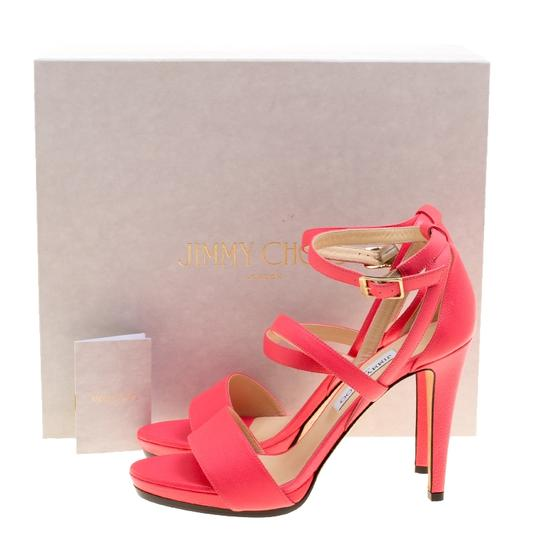 Jimmy Choo Leather Ankle Strap Pink Sandals Image 7