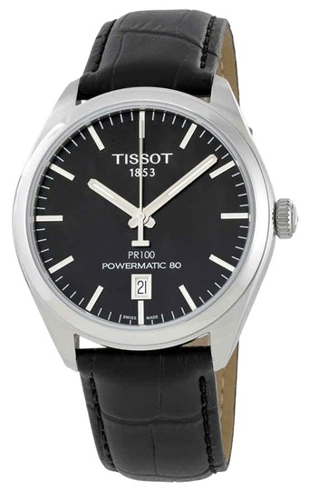Preload https://img-static.tradesy.com/item/24929083/tissot-black-pr-100-stainless-steel-round-men-s-watch-0-1-540-540.jpg