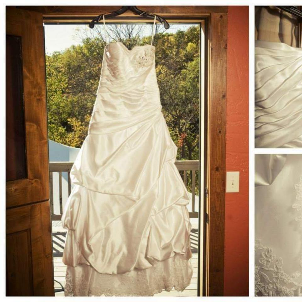 6f27a35951b Lord   Taylor White Satin Not Sure Traditional Wedding Dress Size 10 (M)  Image. 123456789