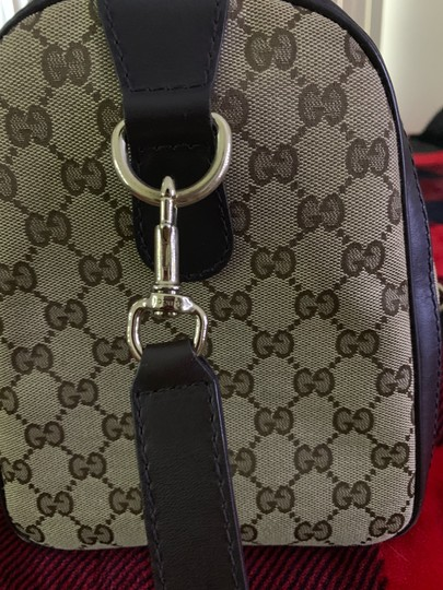 Gucci Satchel in Authentic Gucci Beige with Red and Green Web Image 1
