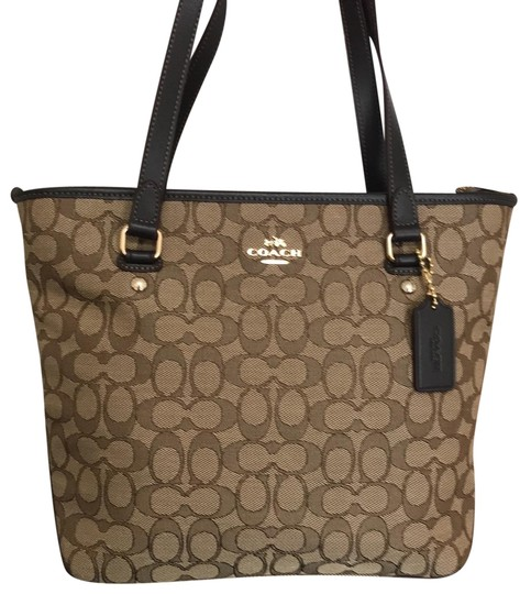 Coach Tote in Khaki Brown Image 0