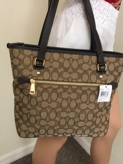 Coach Tote in Khaki Brown Image 1