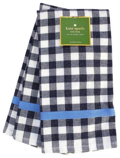 Preload https://img-static.tradesy.com/item/24929142/kate-spade-navy-and-white-color-pop-gingham-towels-x-2-0-1-540-540.jpg
