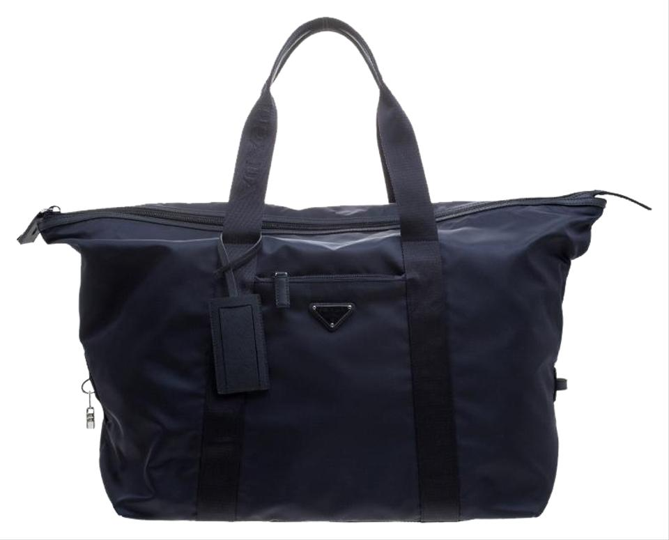 bcfc077c8901 Prada Blue Nylon Weekend Travel Bag - Tradesy
