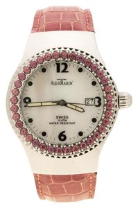 AquaMarin White Mother Pearl Stainless Steel Sea Star Women's Wristwatch 37 mm
