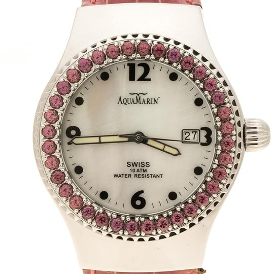 AquaMarin White Mother Pearl Stainless Steel Sea Star Women's Wristwatch 37 mm Image 1