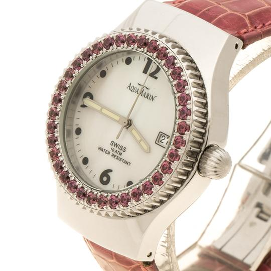 AquaMarin White Mother Pearl Stainless Steel Sea Star Women's Wristwatch 37 mm Image 2