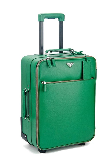 Item - Rolling Carry On Luggage Wardrobe Kelly Green Saffiano Leather Weekend/Travel Bag