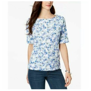 Karen Scott T Shirt blue