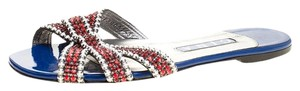 Gina Crystal Embellished Red Flats