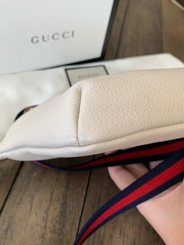 b9ec632ee Gucci Belt Box New Print Small Belt Dustbag Care Booklet Tag. White Leather  with Vintage Logo Cross Body Bag - Tradesy