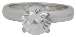 Other Vintage Solitaire Cubic Zirconium Ring-Sterling Silver