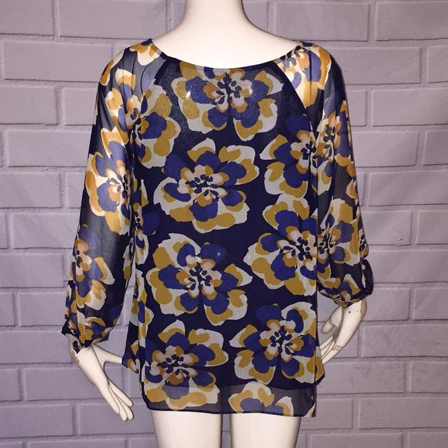 CAbi Top Blue and gold Image 2