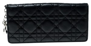 Dior Cannage Leather Lady Dior Flap Wallet