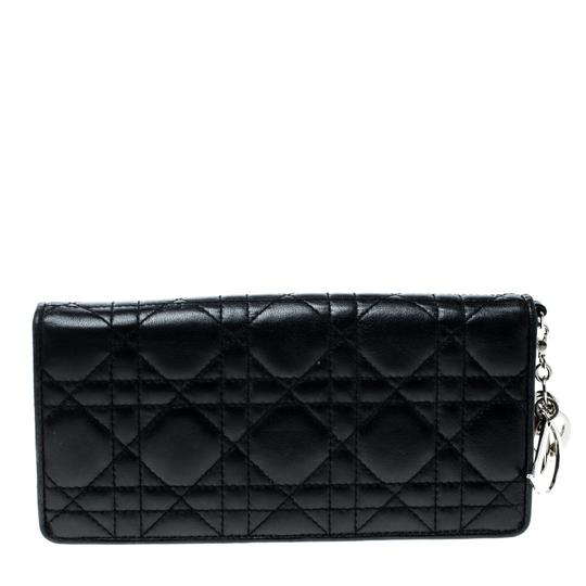 Dior Cannage Leather Lady Dior Flap Wallet Image 1