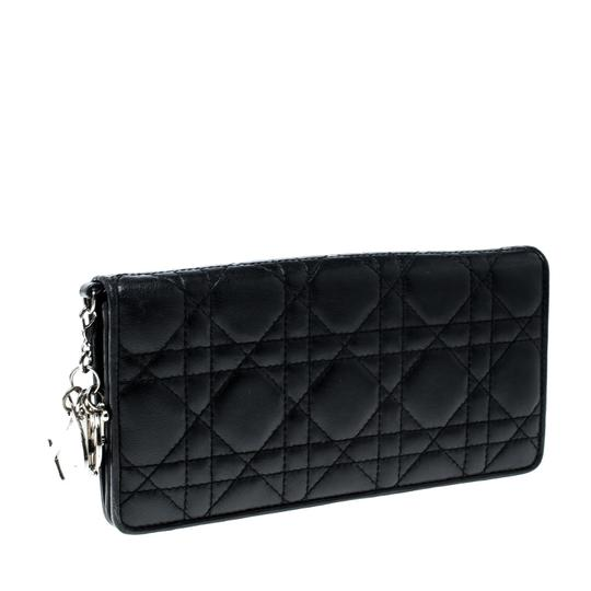 Dior Cannage Leather Lady Dior Flap Wallet Image 2