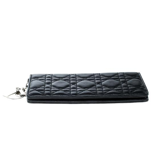 Dior Cannage Leather Lady Dior Flap Wallet Image 3